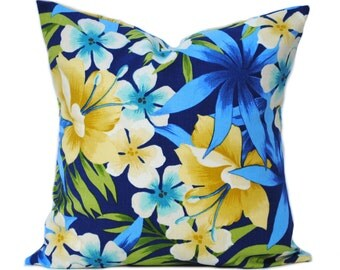 One Tommy Bahama pillow cover,  Home decor, decorative pillow, throw pillow, Floral Pillow,  DIFFERENT SIZES AVAILABLE