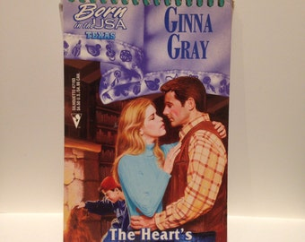 Rcycled 90s Cowboy Romance Blank Spiral Notebook Heart's Yearning