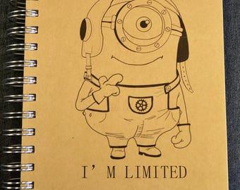 Minion Journal, Minion Sketchbook, Art Journal, Steampunk Journal, Steampunk Sketchbook, Handmade Journal, Handmade Sketchbook