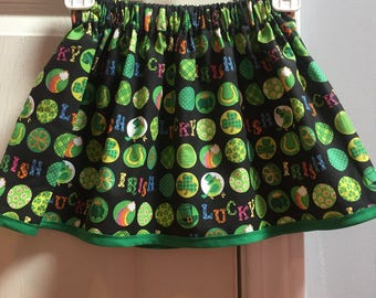 "St.Patricks Day ""Lucky"" girl skirt"