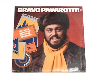 Luciano Pavarotti Bravo Sealed Vintage Vinyl 2 Record Set Brand New His Great American Operatic Triumphs Metropolitan Opera Verdi Puccini