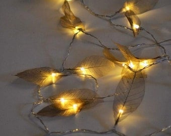 green ivy leaf garland 2m with mini led fairy string lights. Black Bedroom Furniture Sets. Home Design Ideas