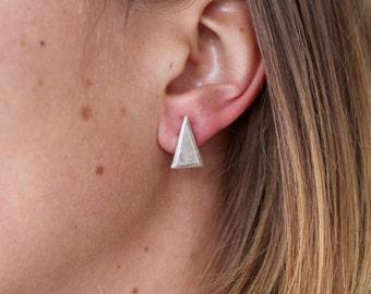Vintage Inspired -  Heavy Minimalist Fine Silver Triangle