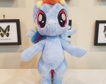 Standing Rainbow Dash plush