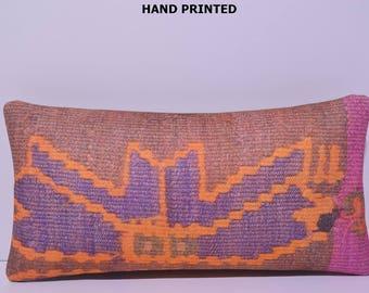 12x24 throw pillow for bed kilim pillow bohemian pillow long lumbar pillow bedroom pillow cases rustic pillow case kilim pillow case 248-30