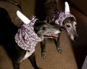 Unicorn Greyhound Dog Snood