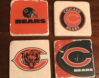 Chicago Bears Marble Coasters