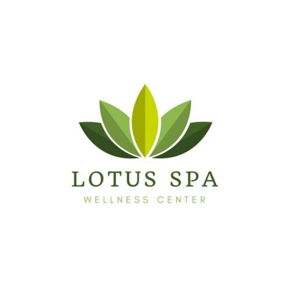 Lotus Logo I Yoga I Wellness I Fitness I Greenery I Premade Logo I Custom Logo I Logo Design I Branding Logo