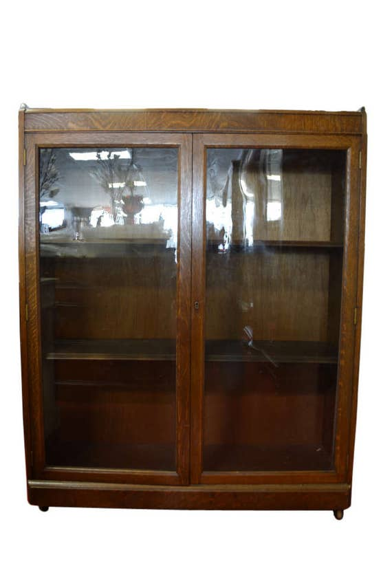 antique china cabinet antique curio cabinet china cabinet bookcase solid oak 10633