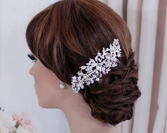 Wedding Bridal Comb Bride Jewelry Floral Headpiece Hair Piece Accessories Accessory Hairpiece Blusher Birdcage Bird Cage Veil Comb