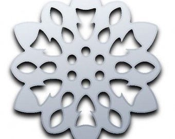 Fluffy Snowflake Christmas Mirror - 5 Sizes Available