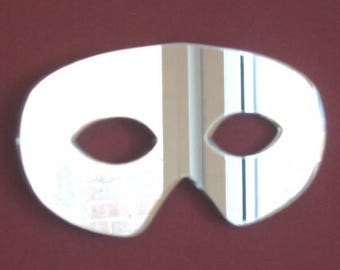 Zorro Mask Shaped Mirror - Silver Acrylic Mirror in several Sizes