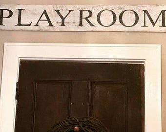 PLAYROOM, Wood Sign, Rustic Decor, Farmhouse, Farmhouse Decor, Nursery, Wall Decor, Large Wood Sign, Rustic, Gallery Wall, Children's Decor