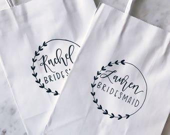 Bridesmaid Gift - Bridesmaid Gift Bag, Will You Be My Bridesmaid, Bridesmaid Tote, Bridesmaid Bag, Paper Gift Bag, Wedding Party Bag
