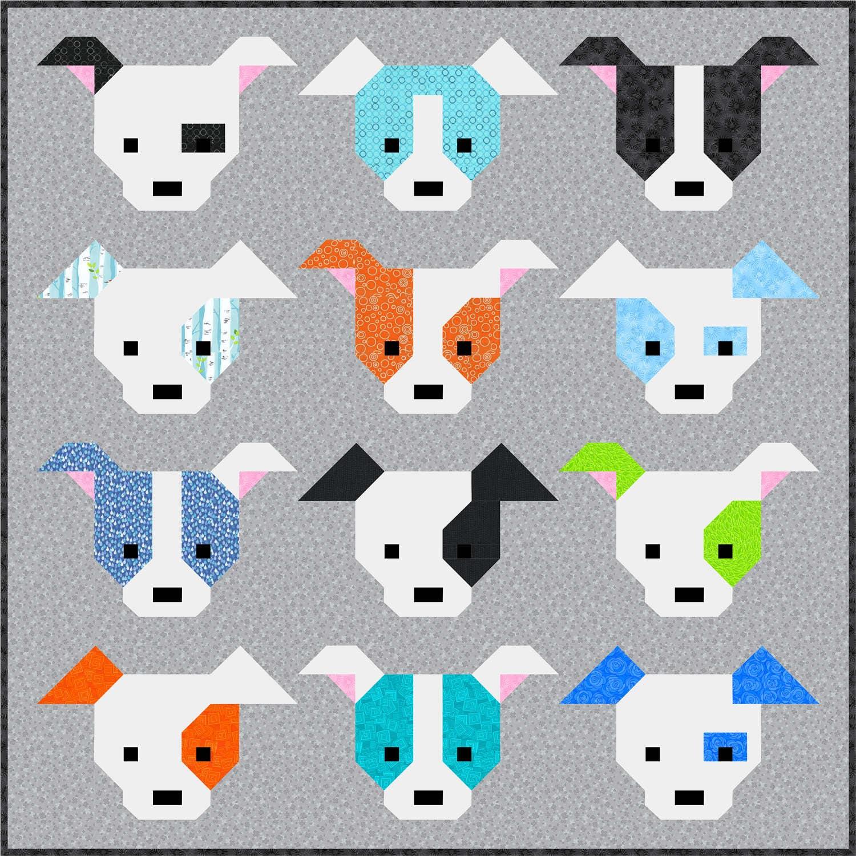 Dog Gone Cute Quilt Pattern Pdf Instant Download Modern