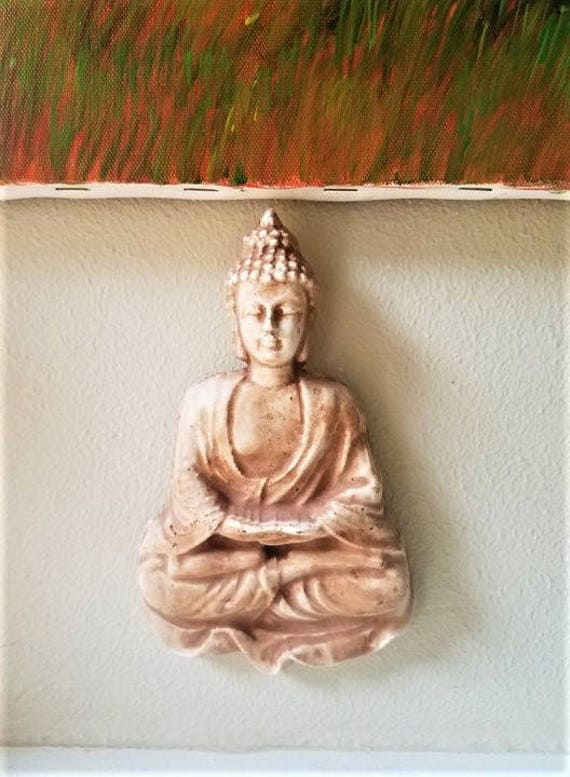 Thai Buddha wall plaque, wall hanging Buddha sculpture, enlightenment, boheme
