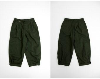 Vintage Capris // Hunter Green Mountain Girl Wool Capris