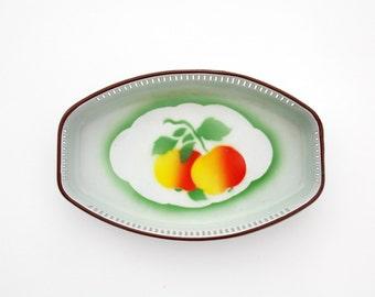 EMO Celje enamel Fruit bowl before WW2 - RARE Adolf Westen Emaillefabrik