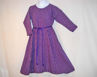 Girl Sz 6 Medieval Purple Summer Cotton Dress Gown  SCA LARP
