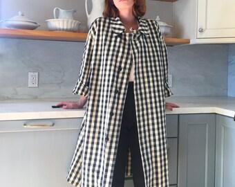 Issey Miyake Checkered Coat