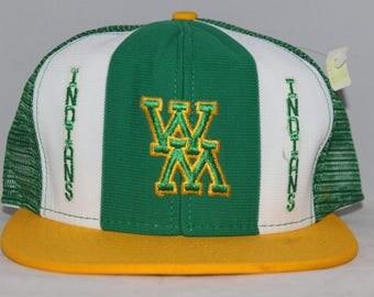 Vintage William & Mary Indians AJD NCAA Snapback Hat
