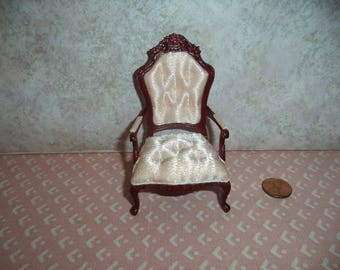 1:12 scale Dollhouse Miniature Rococo Style Chair