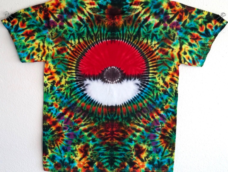 Tie Dye Shirt Pokemon T Shirt Tie Dye Tshirt Hippie Shirt Tie