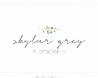 Photography Logo and Watermark, Calligraphy Logo, Premade Logo, Simple Logo Design, Floral Logo, Handwritten Logo, Script Logo L128