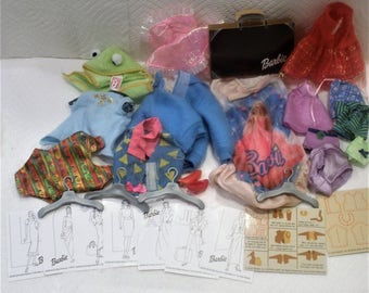 Barbie Cloths Lot w/  Barbie Labels / Barbie Fashion Cards / Barbie Patterns / Plus Extras