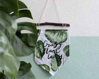 Wall banner - Crazy plant lady