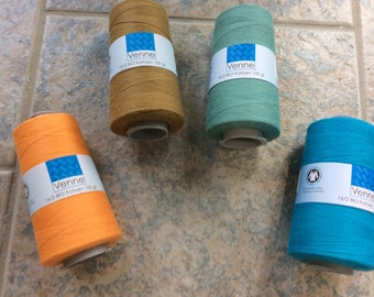 5 ASSORTED choices-VENNE 16/2 Organic Cotton (B) 4 cone sets