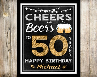 50th Birthday Sign Etsy
