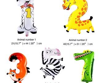 Animal Number Inflatable Balloon, Birthday Party Balloon