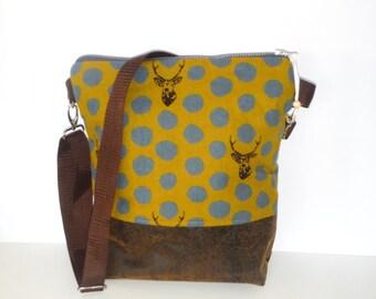 Shoulder bags shoulder bag of canvas deer