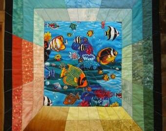 3-D aquarium wall hanging