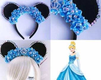 Cinderella Mouse Ears, Disney Princess, Minnie Mouse Ears, Disneyland, Disney World, Cinderella, Disney