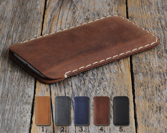 OnePlus 5T 5 3T 3 X 2 One Case Pouch. Handmade Cover Genuine Real Cow Leather Shell Sleeve Rough Vintage Style Custom Sizes
