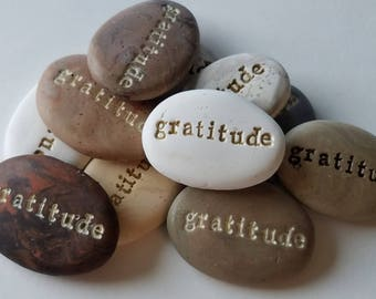 Gratitude stones bulk order 10 | colored clay party favors