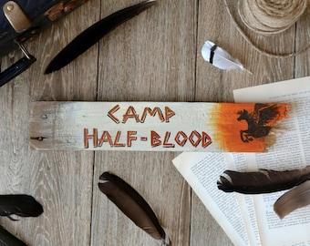 Camp Half Blood - Movie Location Wooden Sign - Percy Jackson Annabeth half blood gods books