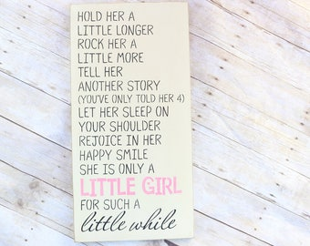 Rustic Girl Nursery, Wall Decor, Little Girl Sign, Baby Shower Gift