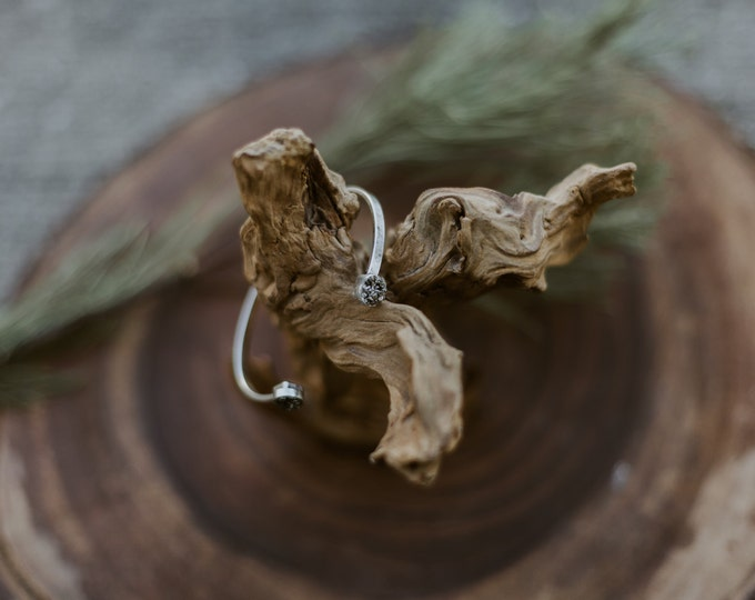 Pyrite Antique Silver Cuff / Minimal Bracelet / Minimal Cuff / Thin Cuff / Cuff Bracelet / Druzy Cuff / Thin Silver Cuff