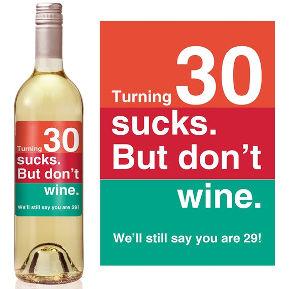 birthday wine label personalized wine label custom wine label