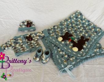 Bunny Baby Blanket / Rabbit Baby Blanket / Bunny Baby Shower Gift / Rabbit Baby Shower Gift / Baby Blanket / Some Bunny Loves You Blanket