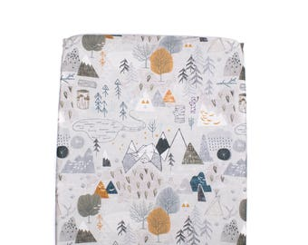 Max Map Changing Pad Cover, Adventurer Changing Pad Cover, Mountains Changing Pad Cover, Max Map Changing Pad Cover, Modern Nursery