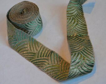 Vintage French Metal Edged Ribbon