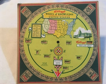 1931 Kellogg's Cereal Wheel of Knowledge Mail Premium