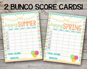 Printable Bunco Score Sheet-Digital File