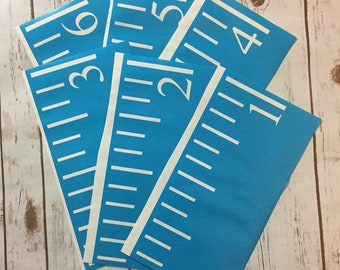 Growth Chart Ruler Stencil File - Sideways Number - SVG/JPG/DXF Cut File - Instant Download - perfect for vinyl and stencils