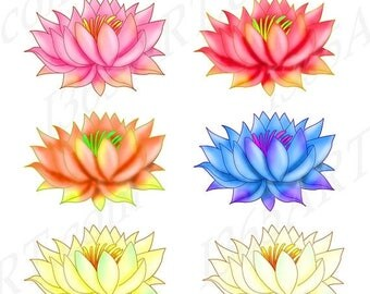 Lotus clipart – Etsy