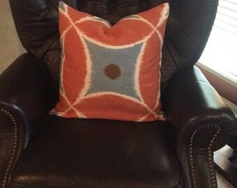 Pillow cover. decorative pillow cover. throw pillow. accent pillow. cushion cover. sham. Linen fabric. zipper closure. designer fabric.